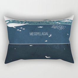 Deep Sea Layers Rectangular Pillow