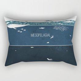 Deep Sea Layers Rectangular Pillow