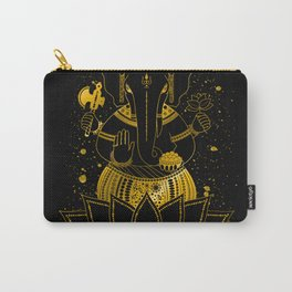 Golden Ganesha Carry-All Pouch
