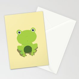 Green Frog Stationery Cards