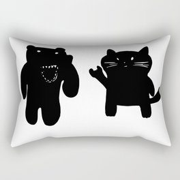 Bear and Cat Rectangular Pillow