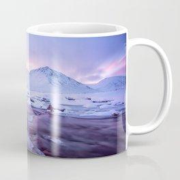 Freezing Mountain Lake Landscape Coffee Mug