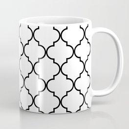 Quatrefoil - White and Black Coffee Mug