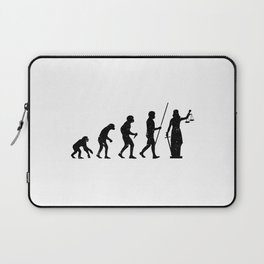 Lady Justice Evolution Lawyer Judge Law Laptop Sleeve