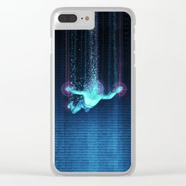 Virtual Reality Diver Clear iPhone Case