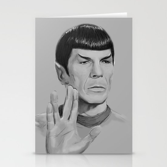 Spock Portrait Star Trek Stationery Cards