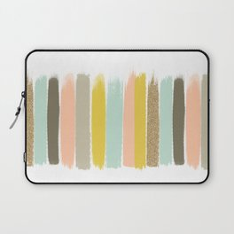 Madison - Brushstroke art print in modern colors bright and happy gifts for trendy girls Laptop Sleeve