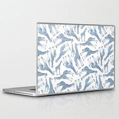 Navy Blue Giraffes on White Laptop & iPad Skin