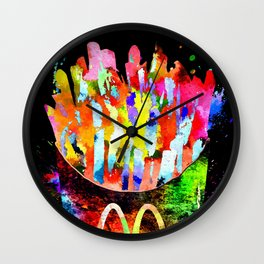 French Fries Grunge Wall Clock