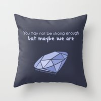 swan queen Throw Pillows featuring Swan Queen Quote (OUAT) by CLM Design