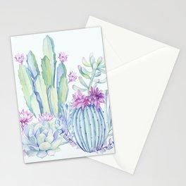 Mixed Cacti Light Blue #society6 #buyart Stationery Cards