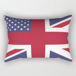 United States and The United Kingdom Flags United Forever Rectangular Pillow