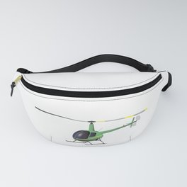 Light Green and Yellow Helicopter Fanny Pack