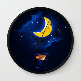 The sweetest cheese dreams Wall Clock