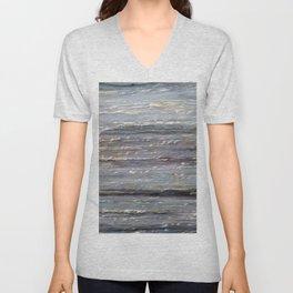 Grey Marble Unisex V-Neck