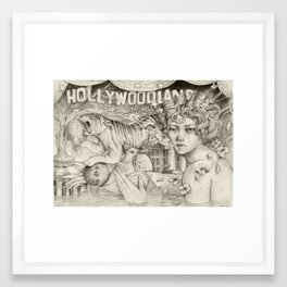 Hollywoodland Framed Art Print