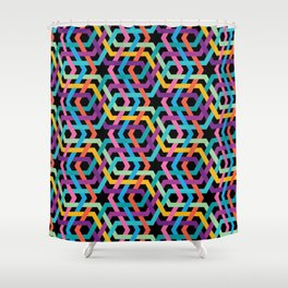 Arabic multicolor pattern Shower Curtain