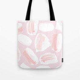 Brushstrokes Pattern Pink Tote Bag