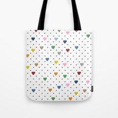 Pin Point Hearts Tote Bag