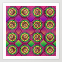 Language Grid Art Print