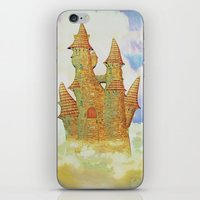 castle in the sky iPhone & iPod Skins featuring castle in the sky by Ancello