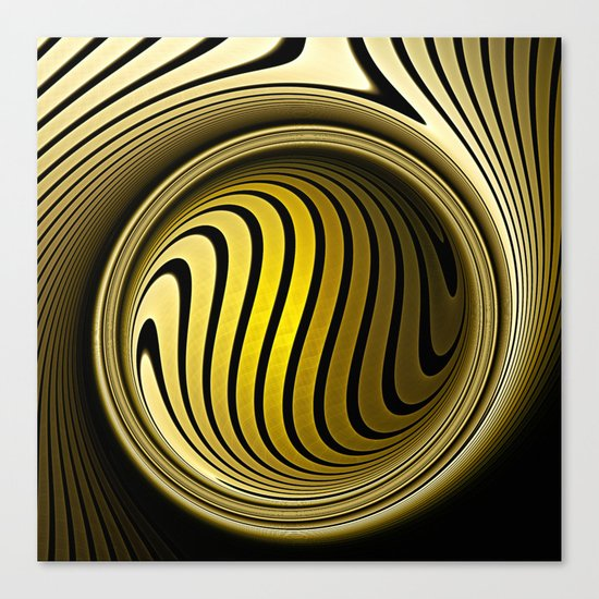 Turning into gold Canvas Print