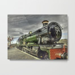 Steam Locomotive 4936 Kinlet Hall Metal Print