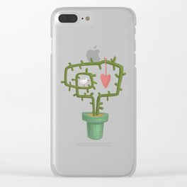 Peace and love plant Clear iPhone Case