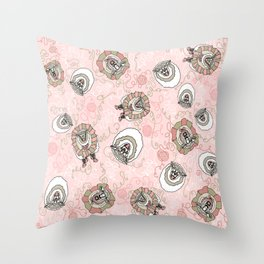 Sheep Coming Unraveled Throw Pillow