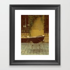 Vintage Baby Carriage in Aix in Provence, France Framed Art Print