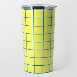 Yellow and Blue Grid - more colors Travel Mug