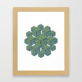 Cubed Mazes Framed Art Print