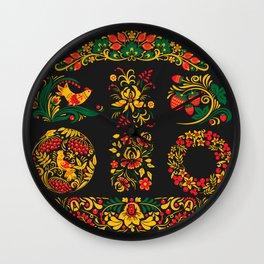 Russian Folk Wall Clock