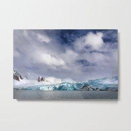 Smeerenburg glacier Svalbard Metal Print