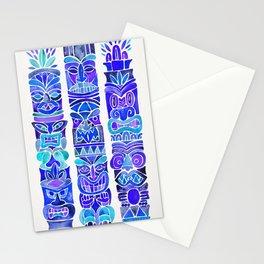 Tiki Totems – Indigo Palette Stationery Cards