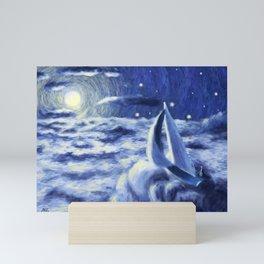 I sailed oceans Mini Art Print