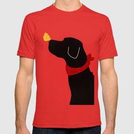 Black Labrador Retreiver Dog Print T-shirt