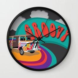 Groovy Camper Van Fantasy Wall Clock
