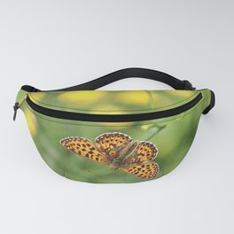 Small pearl-bordered fritillary and buttercups Fanny Pack