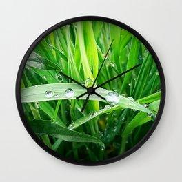 green grass Wall Clock