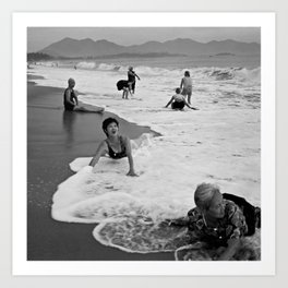 Bathing Woman in Vietnam - analog Art Print