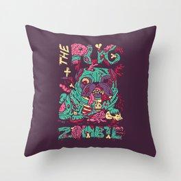 The Pug zombie Throw Pillow