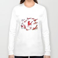 foxes Long Sleeve T-shirts featuring Foxes by Kit Seaton