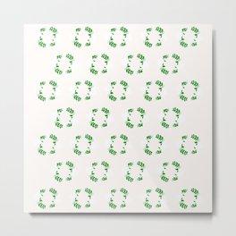Holiday Wreath Pattern Metal Print