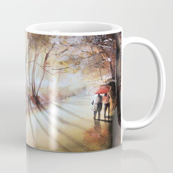 Break in the clouds - watercolor Mug
