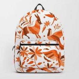 Mexican Otomí Design in Orange Color Backpack