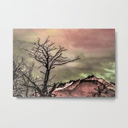 Fantasy Landscape Illustration Metal Print