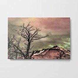 Fantasy Landscape Illustration Metal Print