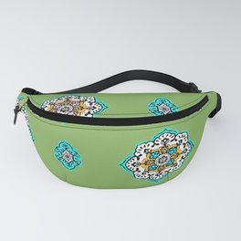 Green Plant Paisley Fanny Pack