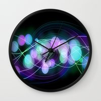 dna Wall Clocks featuring DNA by Dark-Wolf-Studios